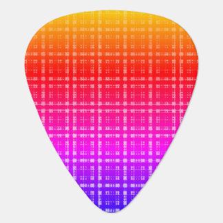 Neon Plaid Ombre Guitar Pick