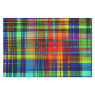 Neon Plaid Tissue Paper