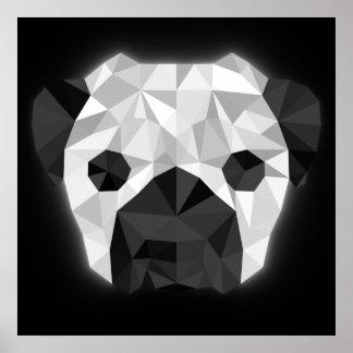 Neon Pug Poster