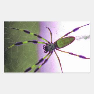 Neon Purple and Green Spider Sticker