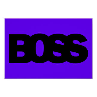 Neon Purple BOSS Poster