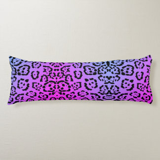 Neon Purple Cheetah Cat Animal Print Body Pillow