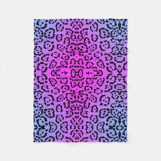 Neon Purple Cheetah Cat Animal Print Fleece Blanket