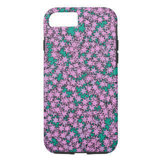 Neon Purple Green Turquoise Stars iPhone 8/7 Case
