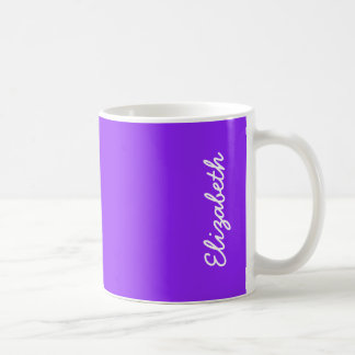 Neon Purple Solid Color Customize It Coffee Mug