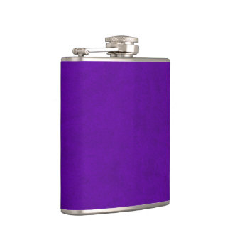 Neon Purple Velvet Personalized Home Casino Hip Flask