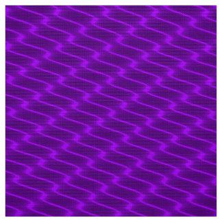 Neon Purple Wavy Lines Fabric Pattern
