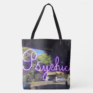 Neon Pyschic Sign Tote Bag (image on both sides)