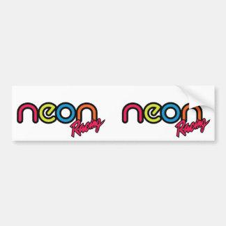 Neon Racing Bumper Sticker