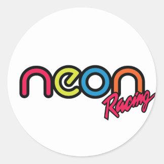 Neon Racing Stickers