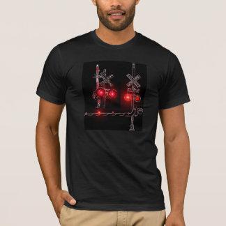 Neon Railroad Crossing Signals T-Shirt