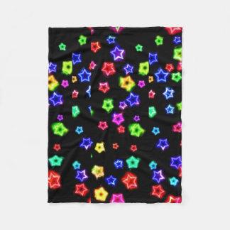 Neon Rainbow fleece blanket