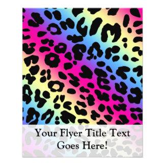 Neon Rainbow Leopard Pattern Print Flyer