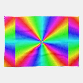 Neon Rainbow Prism Kitchen Towel