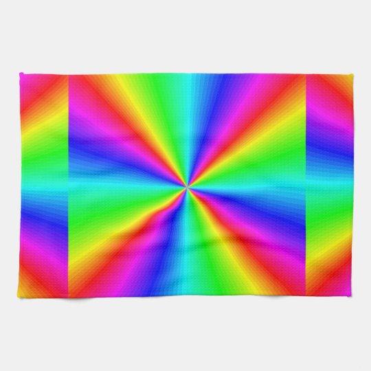 Neon Rainbow Prism Towel