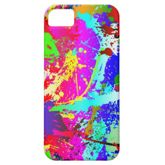 Neon Rainbow Splatter iPhone 5 Case