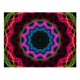 Neon Rainbow Star Postcard