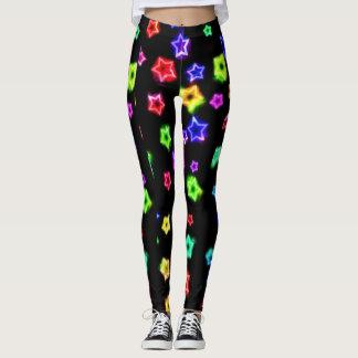 Neon Rainbow Stars Legging