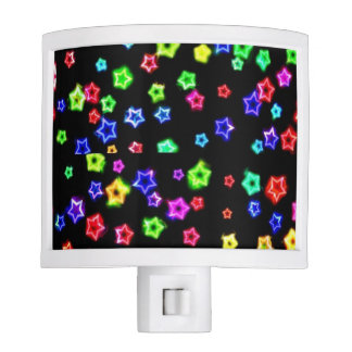 Neon Rainbow Stars Night light