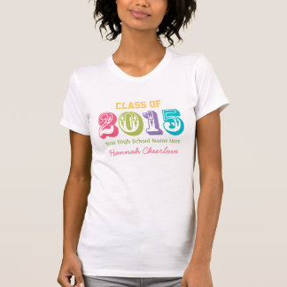 Neon Rainbow Typography Class of 2015 T-Shirt