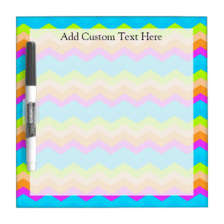 Neon Rainbow Zigzag Dry Erase Board