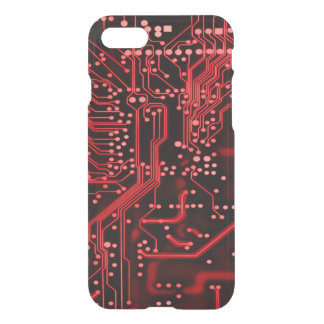 Neon Red Alien Weaponry Circuit Device iPhone 7 Case