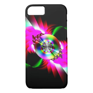 Neon Red Green Abstract iPhone 7 Case