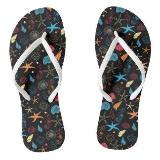 Neon Reef Flip Flops