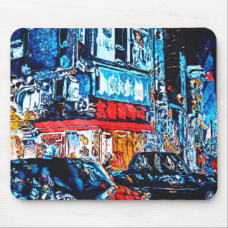 Neon Reflections Mouse Pad