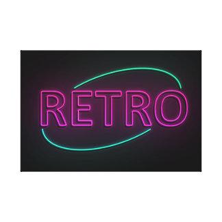 Neon retro. canvas print