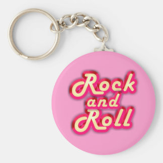 Neon Rock and Roll Keychain