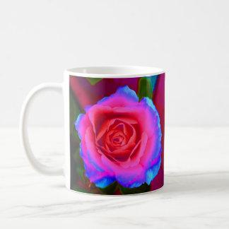 Neon Rose Basic White Mug