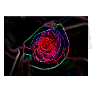 Neon Rose Card