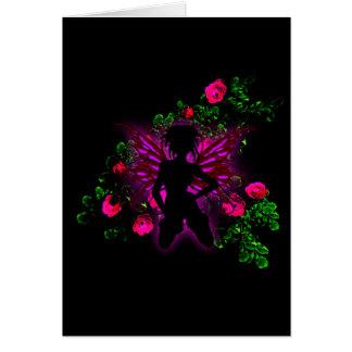 Neon Rose Fairy Sweet 16 Birthday RSVP Card