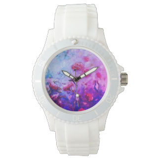 Neon roses wristwatch