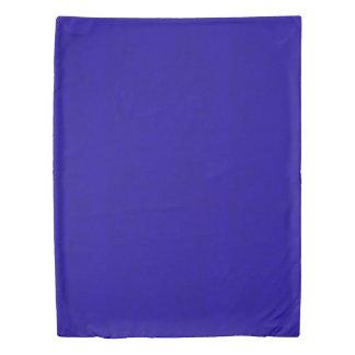 Neon Royal Blue Color Velvet Look Duvet Cover
