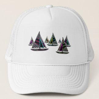 Neon Sailboats Trucker Hat