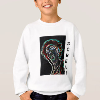 Neon Scream Face kids sweatshirt