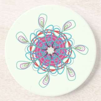 Neon scribble sundial coaster