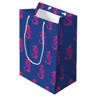 Neon Seahorse gift bag