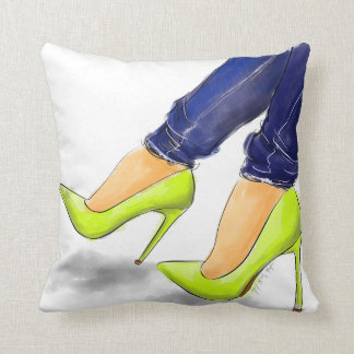 Neon shoes you need throw pillow