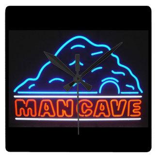 Neon Sign Man Cave Wall Clock