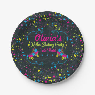 Neon Skate Party Paper Plates
