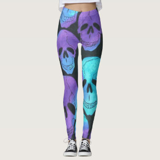Neon Skulls Leggings