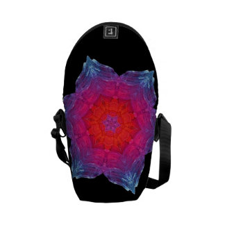 Neon Snowflake Courier Bags