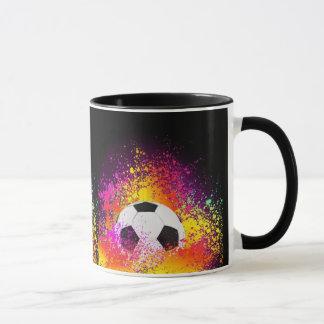 Neon Soccer Ball Mug