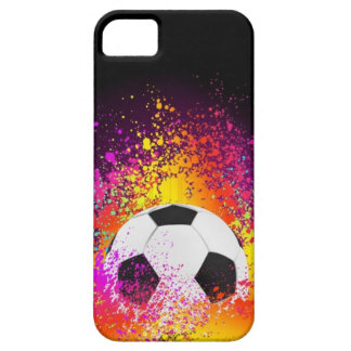 Neon Soccer Ball with Black Background iPhone 5 Cover