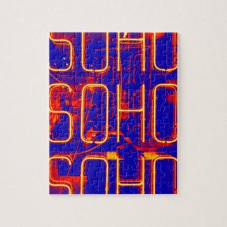 Neon Soho Sign Illuminated in London Jigsaw Puzzle