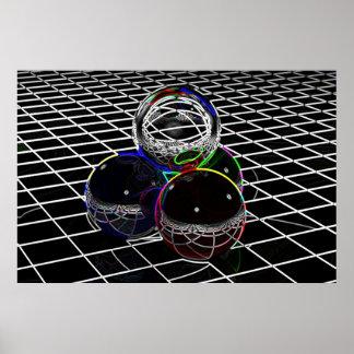 Neon Spheres Poster