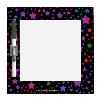 Neon Stars Dry Erase Board
